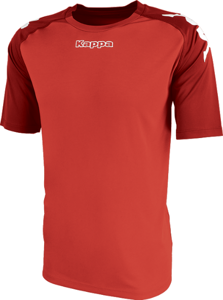 Paderno Match Shirt SS Red / Dark Red